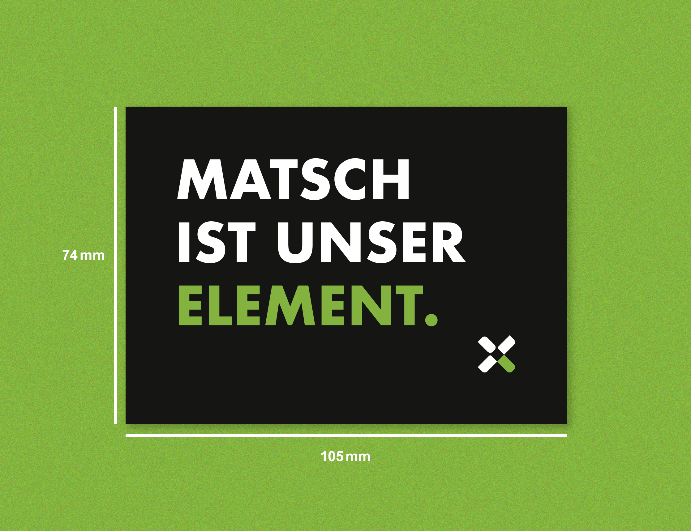 Matsch ist unser Element Outdoorsticker